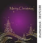 new year's greeting card | Shutterstock .eps vector #38192188