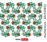 floral pattern border red...   Shutterstock .eps vector #381924832