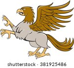 illustration of a hippogriff or ...