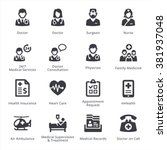 medical services icons set 1  ...   Shutterstock .eps vector #381937048