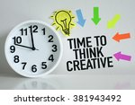 time to think creative | Shutterstock . vector #381943492
