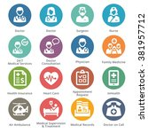 medical services icons set 1  ... | Shutterstock .eps vector #381957712