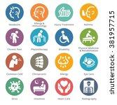 health conditions   diseases... | Shutterstock .eps vector #381957715