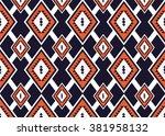 geometric ethnic pattern... | Shutterstock .eps vector #381958132
