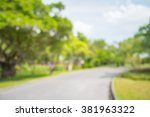 abstract blur city park bokeh... | Shutterstock . vector #381963322