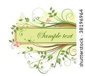 floral banner.   Shutterstock .eps vector #38196964