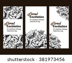 vintage delicate invitation... | Shutterstock .eps vector #381973456