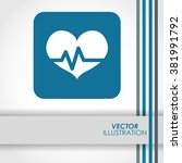 cardio icon design | Shutterstock .eps vector #381991792
