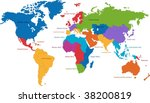 united nations divides the... | Shutterstock .eps vector #38200819