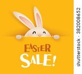 easter sale  easter bunny with... | Shutterstock .eps vector #382008652