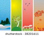 four seasons. winter  spring ...   Shutterstock .eps vector #38201611