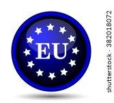 european union icon. internet... | Shutterstock .eps vector #382018072