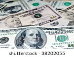 american  dollar bills   Shutterstock . vector #38202055