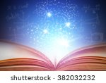 abstract blue magic book on... | Shutterstock . vector #382032232