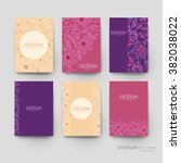 floral abstract vector brochure ... | Shutterstock .eps vector #382038022