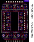 ethnic embroidery graphic... | Shutterstock .eps vector #382052266