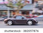 Постер, плакат: YIWU CHINA JAN 15 2016 Porsche