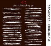 large set of chalk brushes.... | Shutterstock . vector #382059292