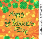 st patric day pattern. green... | Shutterstock .eps vector #382062922