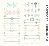 set of hand drawn colorful... | Shutterstock .eps vector #382083925