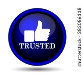trusted icon. internet button... | Shutterstock .eps vector #382086118