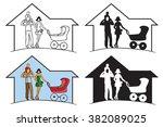illustration on white... | Shutterstock .eps vector #382089025