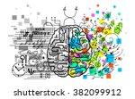 brain hemispheres functions...   Shutterstock .eps vector #382099912