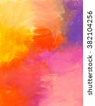 abstract hand painted acrylic... | Shutterstock . vector #382104256