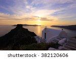santorini at sunset ... | Shutterstock . vector #382120606