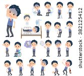 a set of school boy with injury ... | Shutterstock .eps vector #382125412