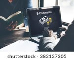 ecommerce market transaction... | Shutterstock . vector #382127305