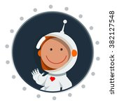 cute flat style astronaut with... | Shutterstock .eps vector #382127548