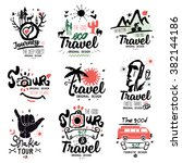 travel logo. tour logo. tourist ... | Shutterstock .eps vector #382144186