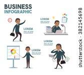 african american businessman... | Shutterstock .eps vector #382145698