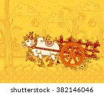 Vector Design Of Bullock Cart...