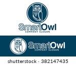 owl logo   Shutterstock .eps vector #382147435