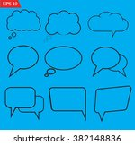 speech bubbles icons set on... | Shutterstock .eps vector #382148836