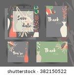 wedding invitation card... | Shutterstock .eps vector #382150522