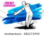 illustration of batsman playing ...   Shutterstock .eps vector #382171945