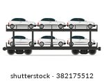railway carriage train vector... | Shutterstock .eps vector #382175512