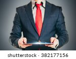 close up image of business man... | Shutterstock . vector #382177156