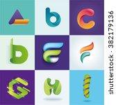 A B C D E F G H I Letters Set...