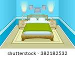 blue bedroom | Shutterstock .eps vector #382182532