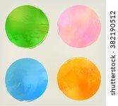 watercolor circles shape... | Shutterstock .eps vector #382190512