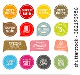 modern sale stickers collection | Shutterstock .eps vector #382193956