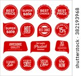 modern sale stickers collection | Shutterstock .eps vector #382193968