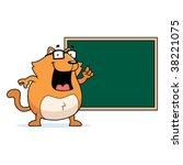 cat chalkboard | Shutterstock .eps vector #38221075