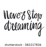 vector calligraphy. hand drawn... | Shutterstock .eps vector #382217836