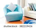 beautiful luxury pillow on sofa ... | Shutterstock . vector #382219426