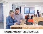 startup business team on... | Shutterstock . vector #382225066